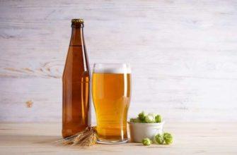 Интересные факты о пиве на картинке с бутылкой и бокалом пива